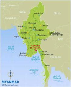 รับทำวีซ่าพม่า ประเทศ