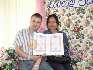 รูปตัวอย่างลูกค้าที่ใช้บริการ รับจดทะเบียนสมรส 01