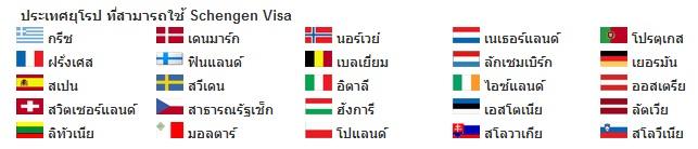 ประเทศที่สามารถใช้ Schengenvisa