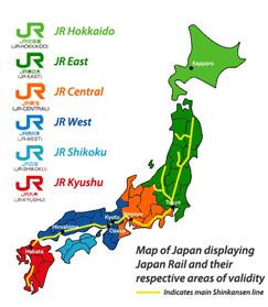 รับทำวีซ่าญี่ปุ่น แผนที่